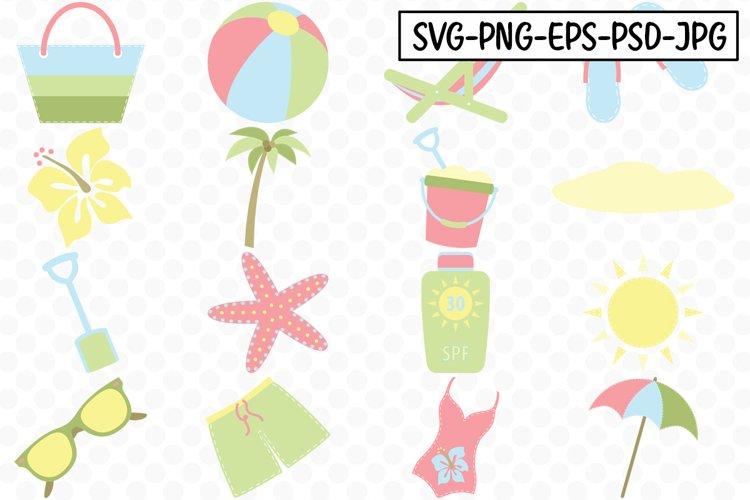 Summer Time Beach SVG Bundle