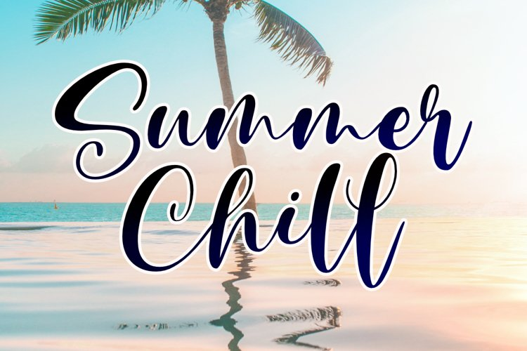 Summer Chill - A Stylish Script Font example image 1