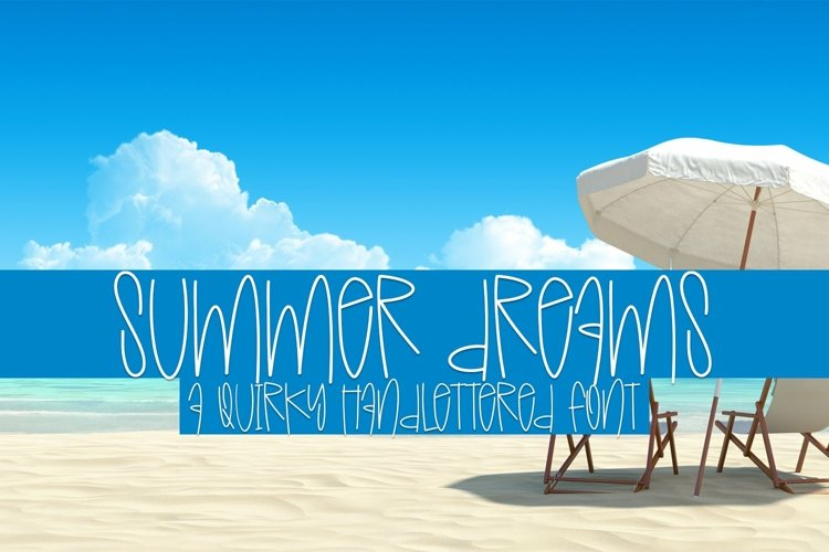 Web Font Summer Dreams - A Quirky Handlettered Font example image 1