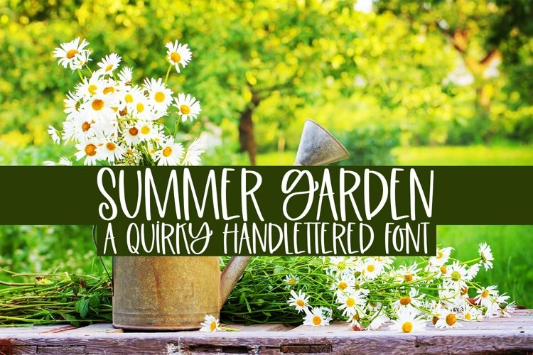 Web Font Summer Garden - A Quirky Handlettered Font example image 1