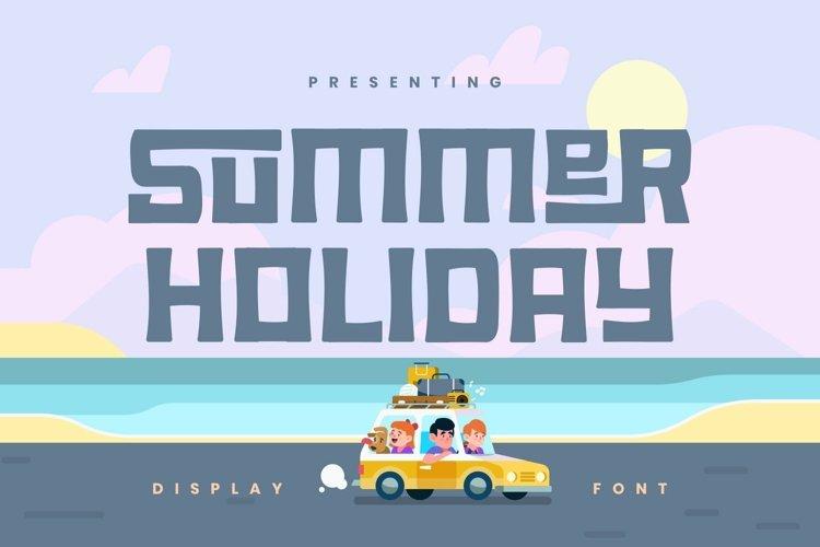 Web Font Summer Holiday example image 1