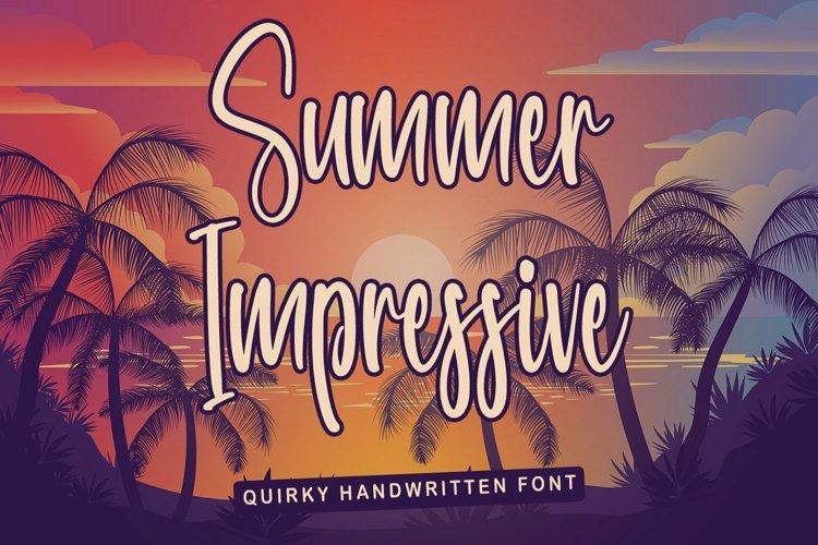 Web Font Summer Impressive - Quirky Handwritten Font example image 1
