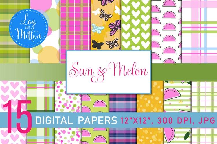 Melon Scrapbook Paper Pack - Summer Paper - Summer Patterns example image 1