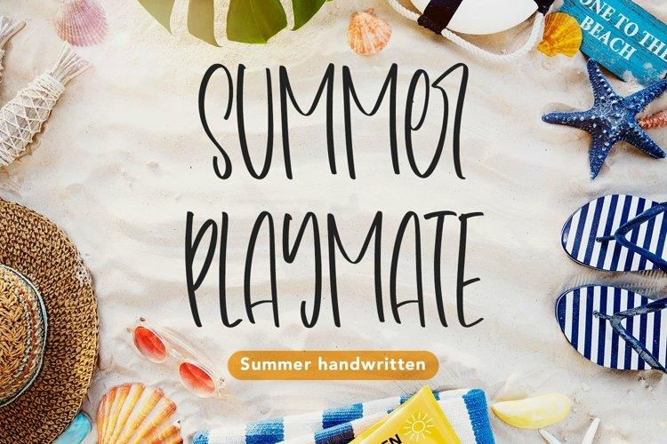 Web Font Summer Playmate - Summer Handwritten Font example image 1