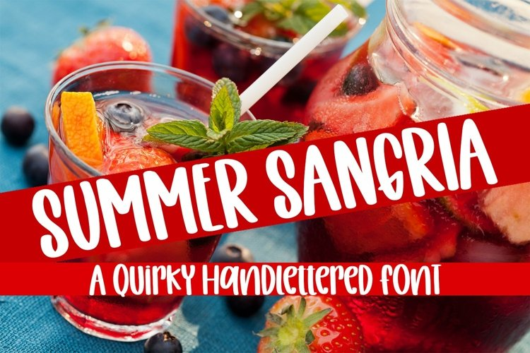 Web Font Summer Sangria - A Quirky Handlettered Font example image 1