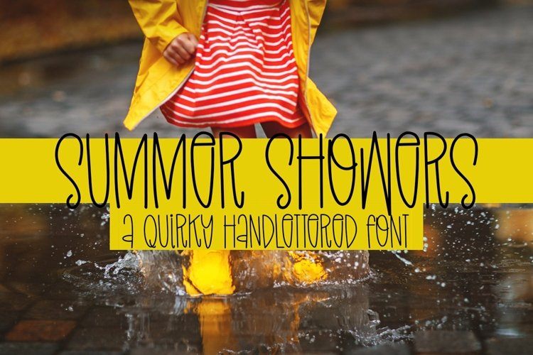 Web Font Summer Showers - A Quirky Handlettered Font example image 1