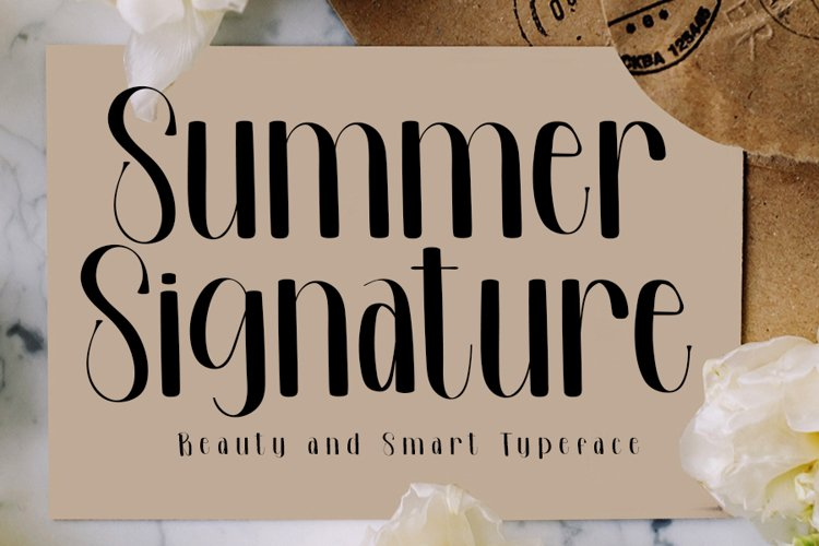 Summer Signature - Beauty Handwritten Font example image 1
