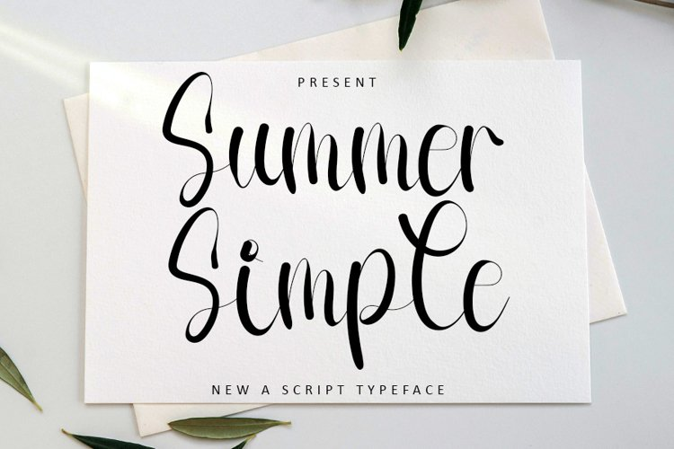 Summer Simple   New A Script Font example image 1
