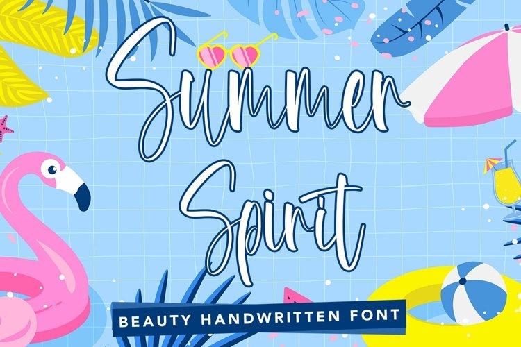 Web Font Summer Spirit - Beauty Handwritten Font
