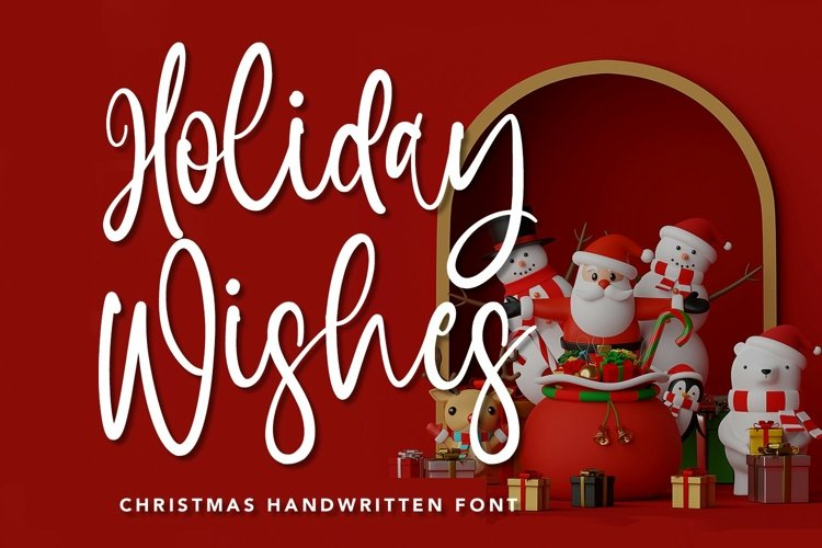 Web Font Holiday Wishes - Christmas Handwritten Font example image 1