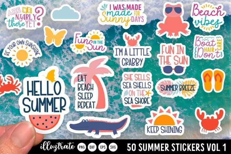 Summer Sticker SVG Bundle | Summer Stickers SVG