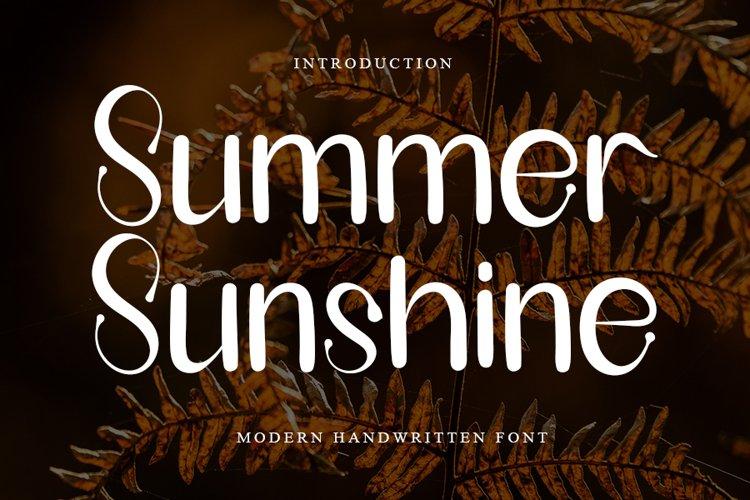 Summer Sunshine - Modern Handwritten Font example image 1