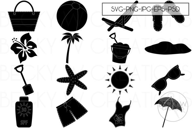 Summer Time Beach SVG Bundle example image 1
