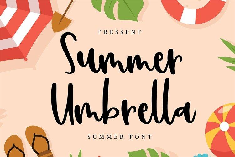 Web Font Summer Umbrella - Summer Font example image 1