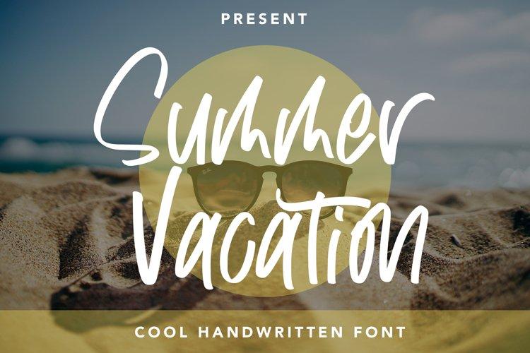 Summer Vacation - Cool Handwritten