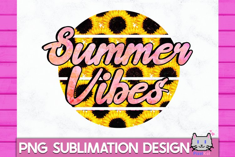SUMMER Sublimation Summer vibes PNG Retro Summer Sublimation example image 1