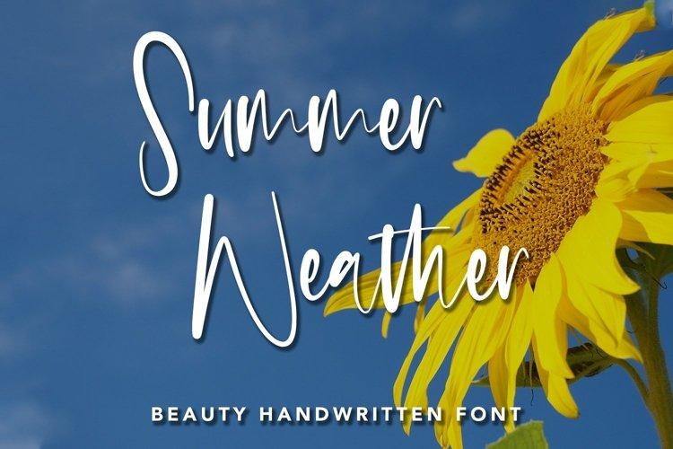 Web Font Summer Weather - Beauty Handwritten Font example image 1