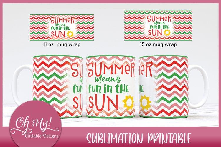 Summer Fun Mug Wrap 11oz 15oz Sublimation Designs