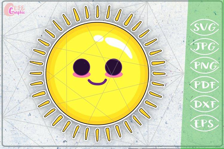 Sun SVG Print Cutting File Sticker Craft Mug Design T-Shirt