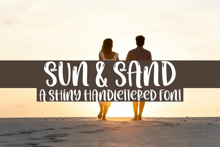 Web Font Sun & Sand - A Quirky Handlettered Font example image 1
