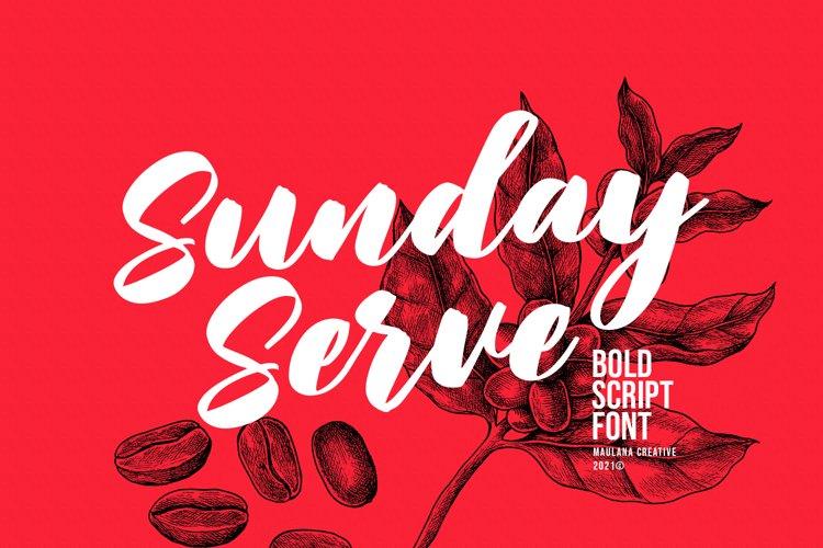 Sunday Serve Bold Script Font example image 1