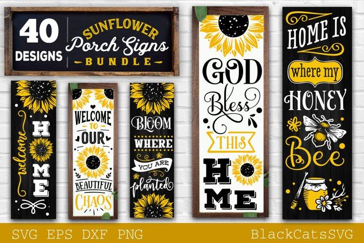 Sunflower Porch signs SVG bundle 40 designs