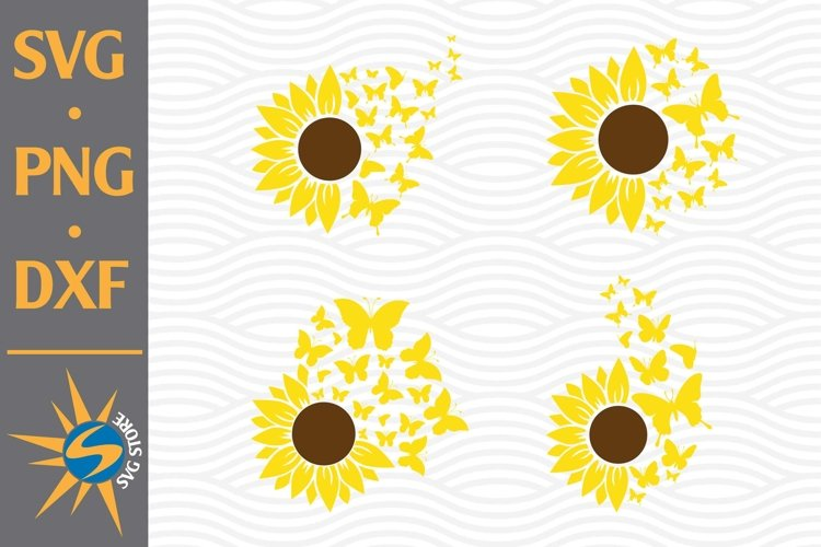 Sunflower Butterfly SVG, PNG, DXF Digital Files Include