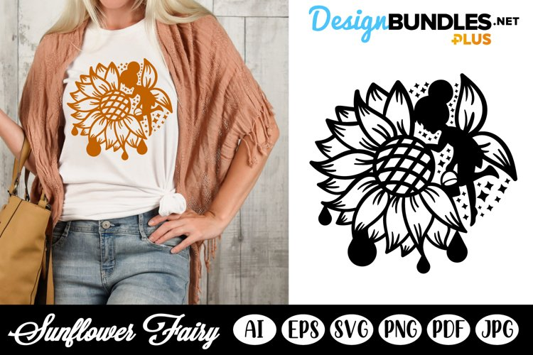Sunflower and Fairy SVG