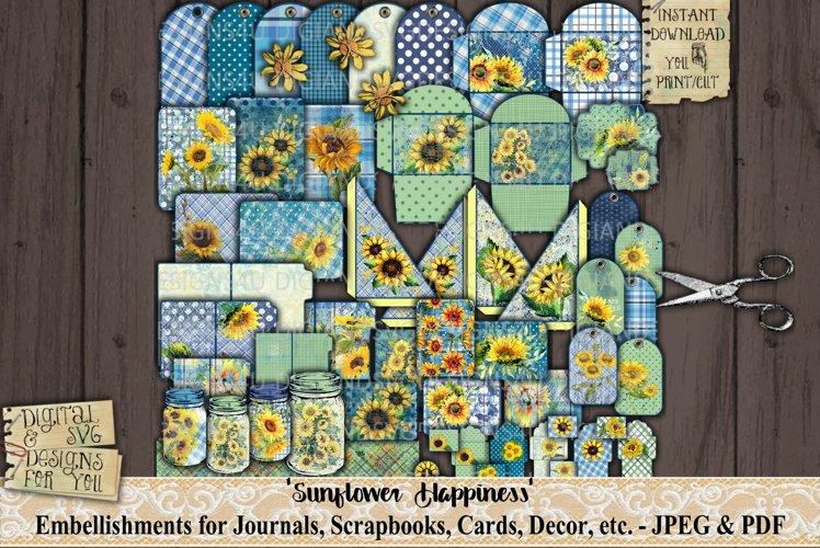 Sunflower Happiness   Ephemera   Sunflowers   Printable