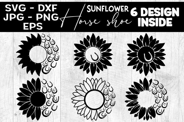 Sunflower Horse Shoe SVG Sunflower Horseshoe SVG