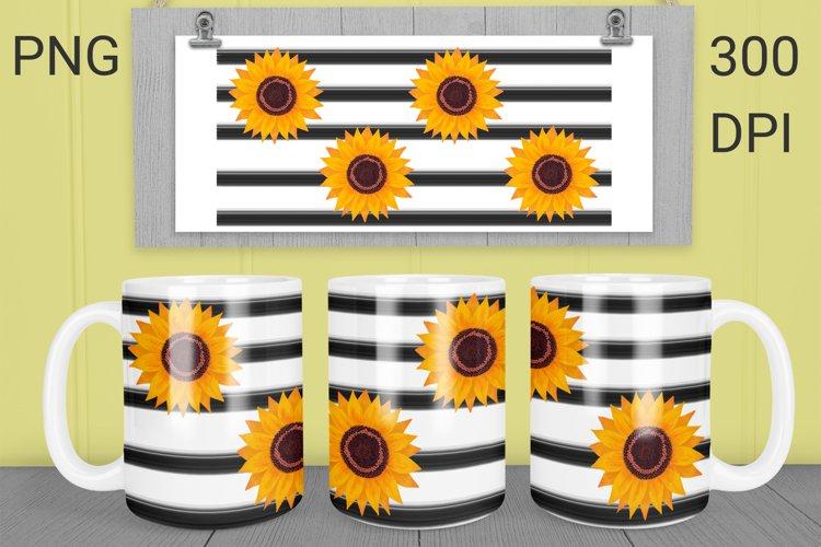 Mug sublimation sunflower wrap 15 Oz and 11 Oz