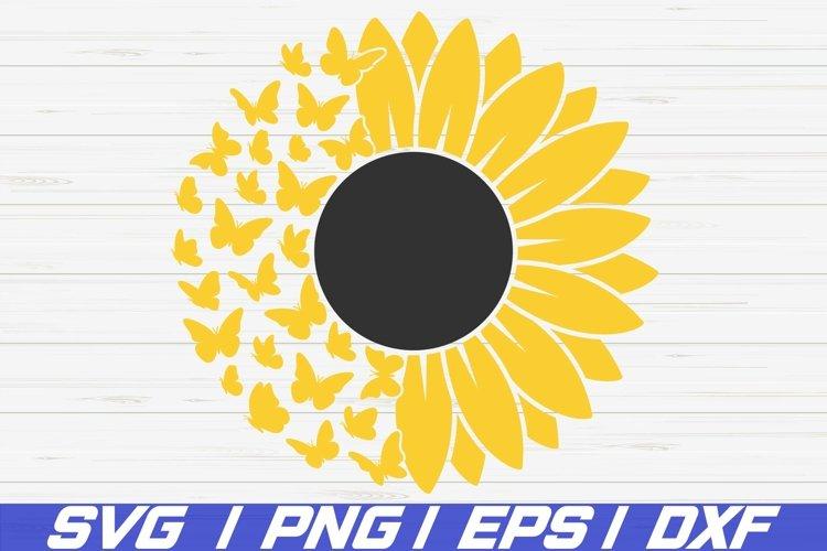 Sunflower SVG / Sunflower Butterfly SVG / Cut File / Cricut