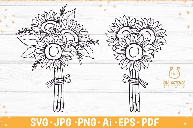 Sunflower Bouquet svg, floral bouquet svg, sunflower svg