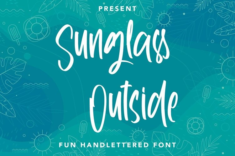 Web Font Sunglass Outside - Handlettered Font example image 1