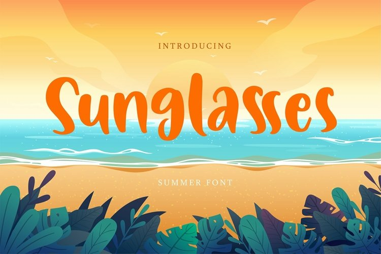 Web Font Sunglasses - Summer Font example image 1