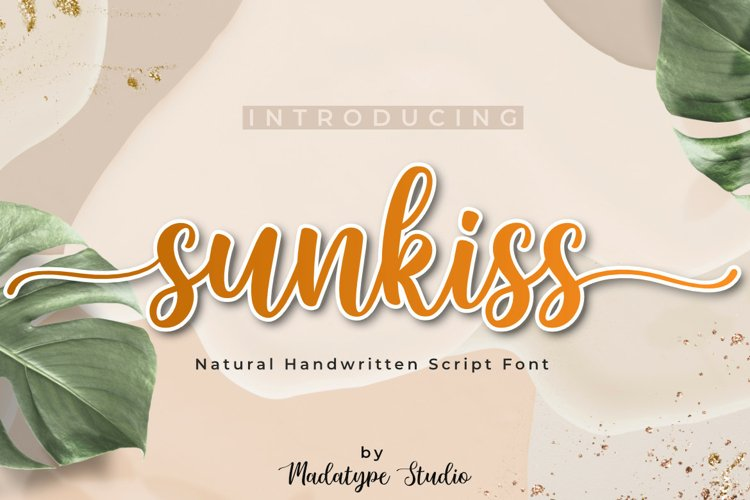 Sunkiss | A Beautiful Script Font example image 1