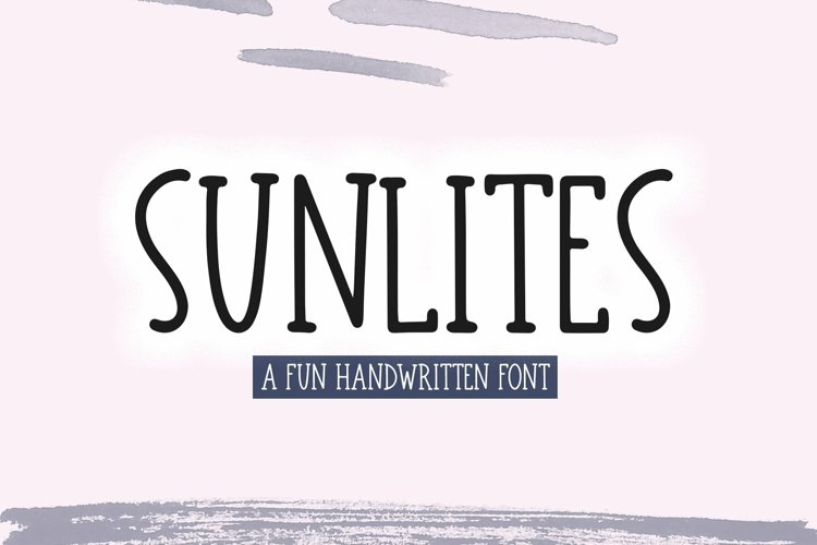 Web Font Sunlites - A Fun Handwritten Font example image 1