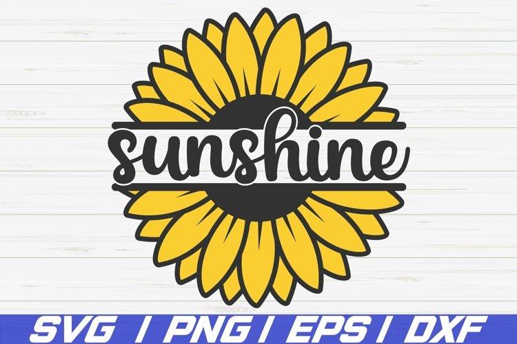 Sunshine Sunflower SVG / Cut File / Cricut