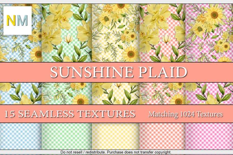 Sunshine Plaid 15 Seamless Matching Fabric Textures