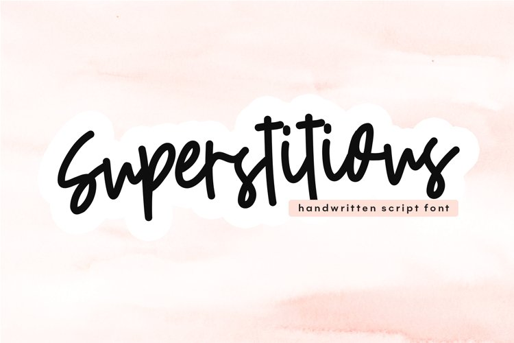 Superstitious - Bold Script Font example image 1