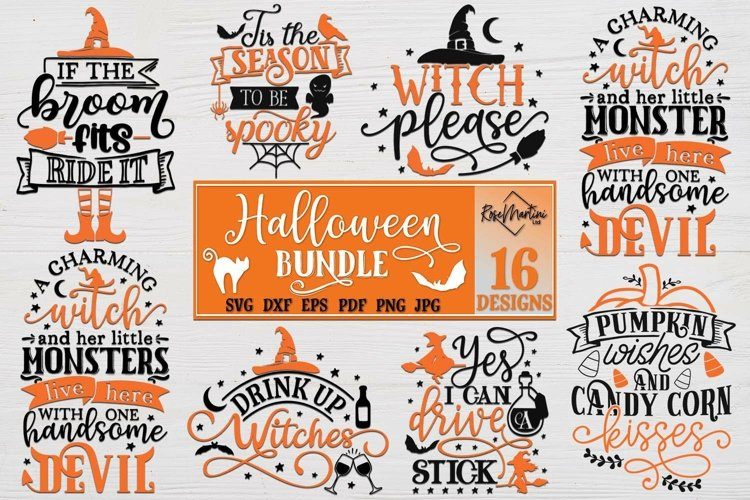 Halloween Bundle of 16 designs SVG Halloween Decorations example image 1