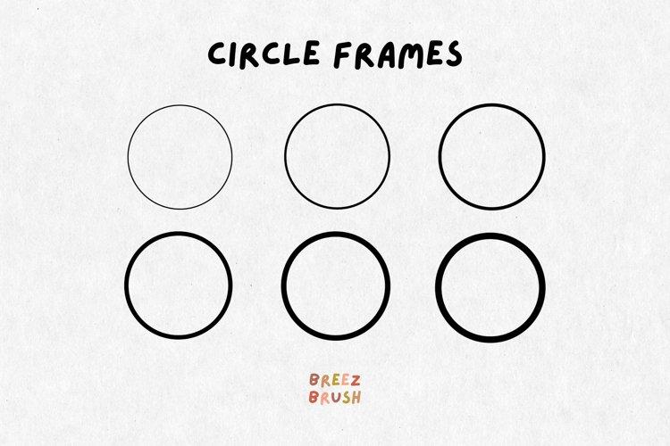 6 Circle svg, circle frame svg, circle border svg