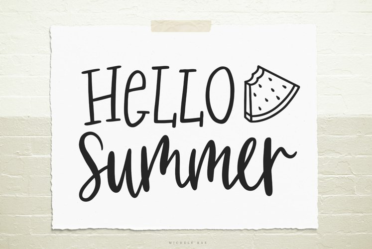 Hello summer SVG, Cutting file, Decal example image 1