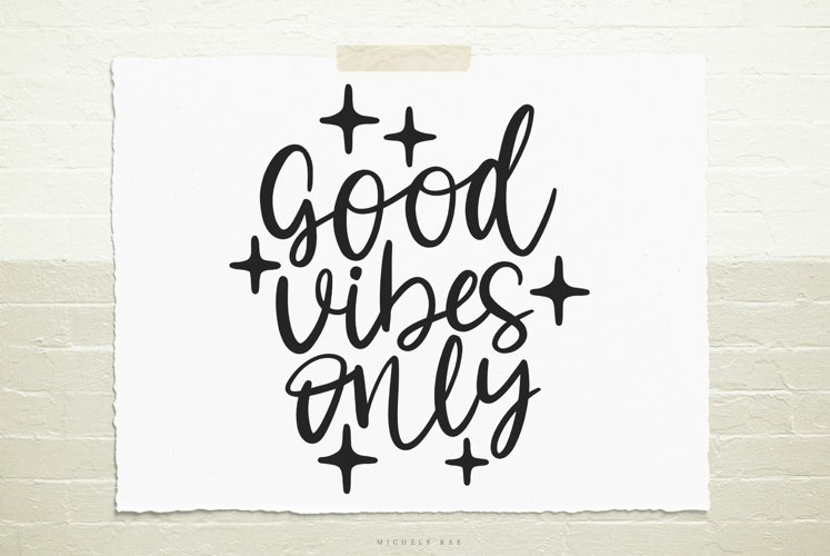 Good vibes only SVG, Cutting file, Decal