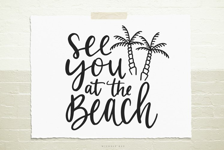 See you at the beach SVG, Cutting file, Decal