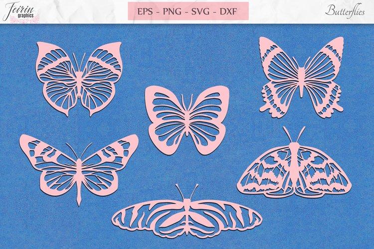 Butterfly Summer Clipart SVG, Nature Butterflies Bundle SVG