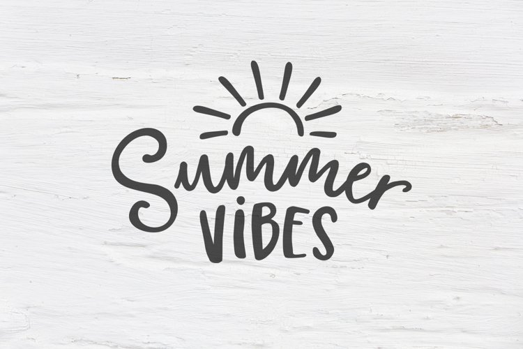 Summer vibes SVG, EPS, PNG, DXF