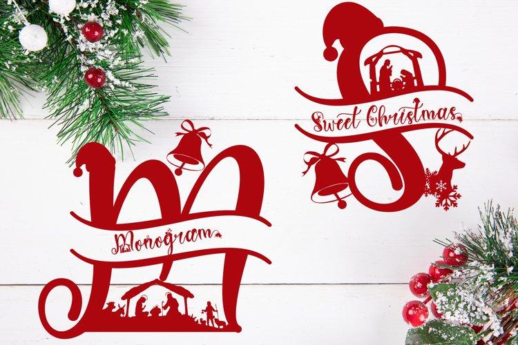 Sweet Christmas Monogram example image 1