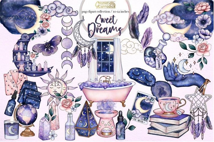 Sweet Dreams - Boho celestial clipart - Mystical collection