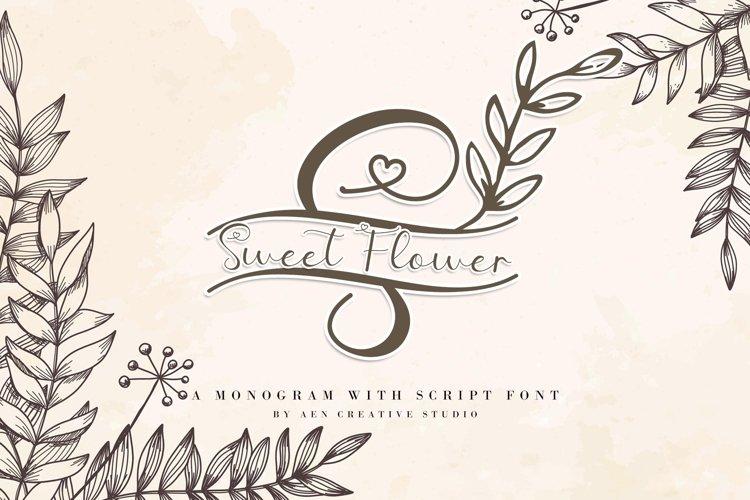 Sweet Flower Monogram example image 1
